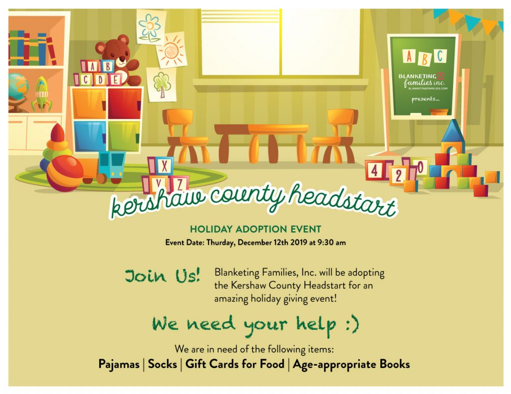 Blanketing Families Holiday Donations Holiday Giving Kershaw County