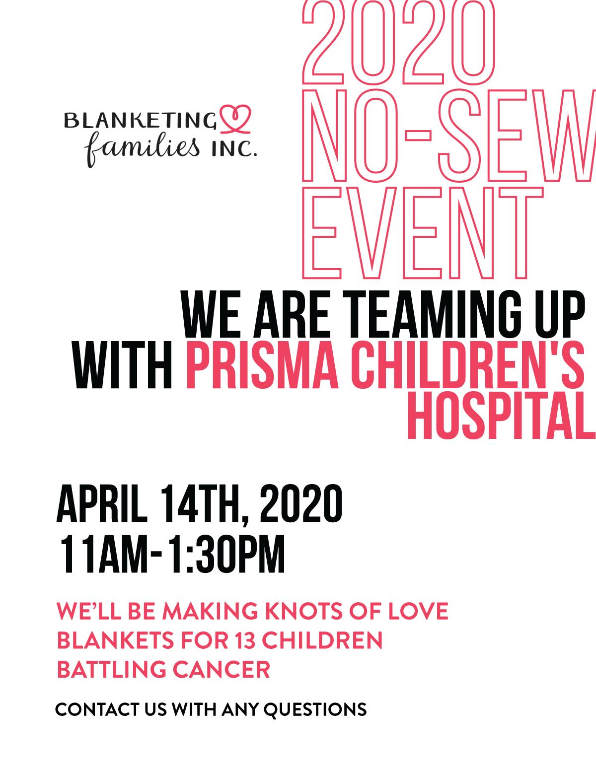 No Sew Blanket Event